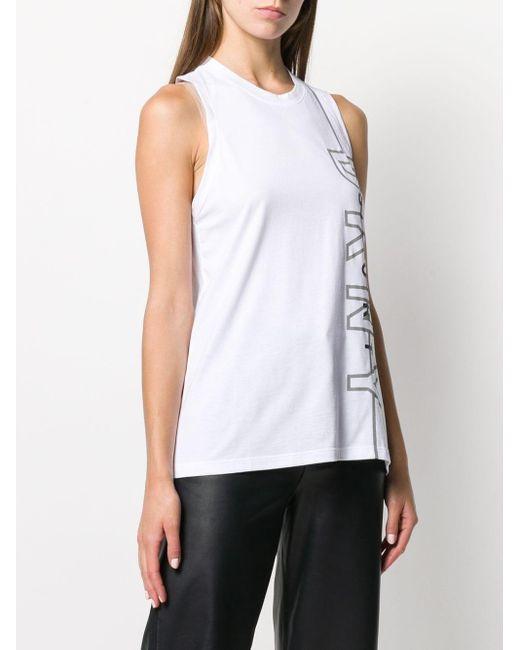 Débardeur à logo DKNY en coloris White