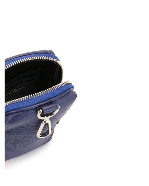 メンズ Mulberry ファスナー財布 Blue