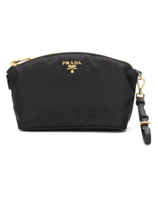 Prada ファスナー クラッチバッグ Black