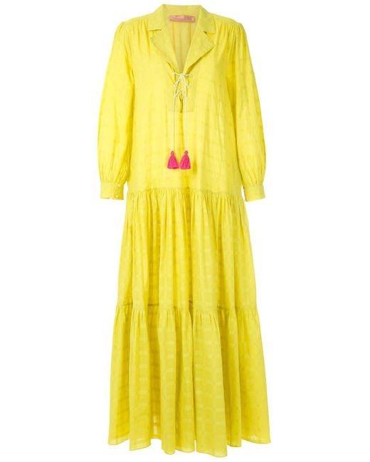 Clube Bossa Blandine マキシドレス Yellow