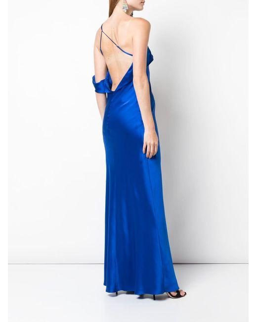 Michelle Mason ドレープ ドレス Blue