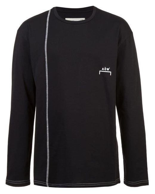 メンズ A_COLD_WALL* コントラストステッチ Tシャツ Black