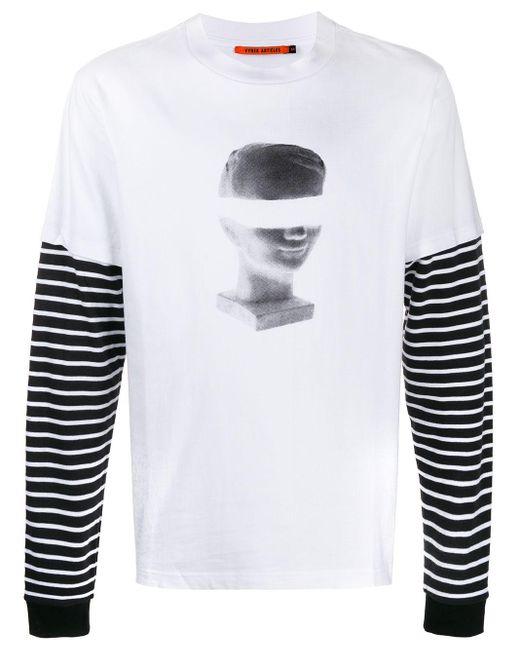 メンズ Vyner Articles レイヤード Tシャツ White