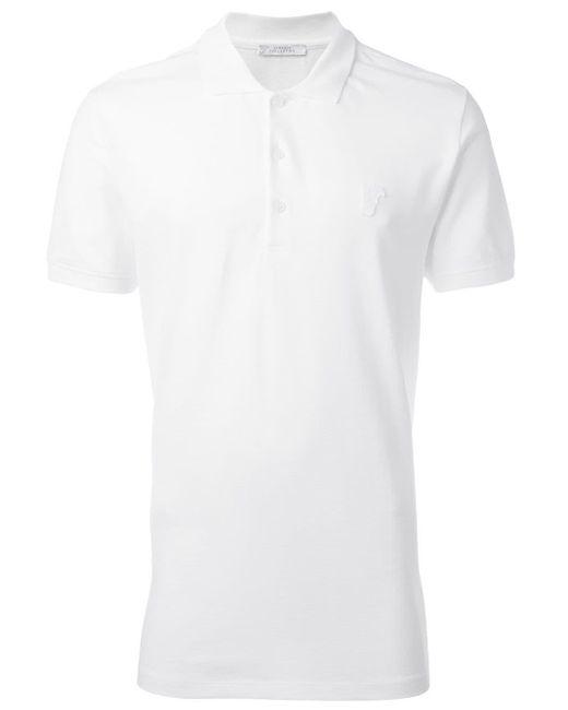 メンズ Versace クラシック ポロシャツ White