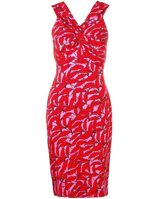 Diane von Furstenberg プリント ドレス Red