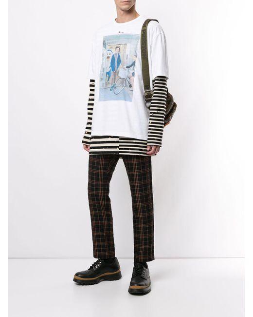 メンズ Kolor プリント Tシャツ Multicolor