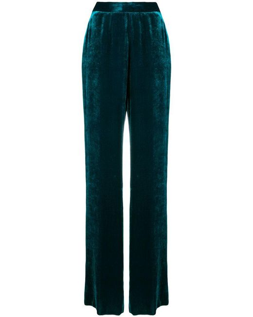 Etro - Green Velvet Palazoo Pants - Lyst