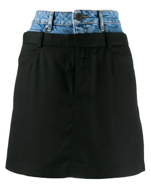 Sandro Blue Layered Denim Skirt