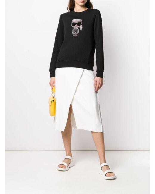 Толстовка Ikonik Karl Со Стразами Karl Lagerfeld, цвет: Black