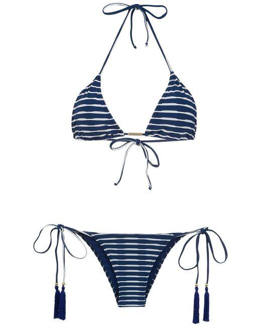 Brigitte Bardot - Blue Tati Tanga Julia Triangle Bikini Set - Lyst