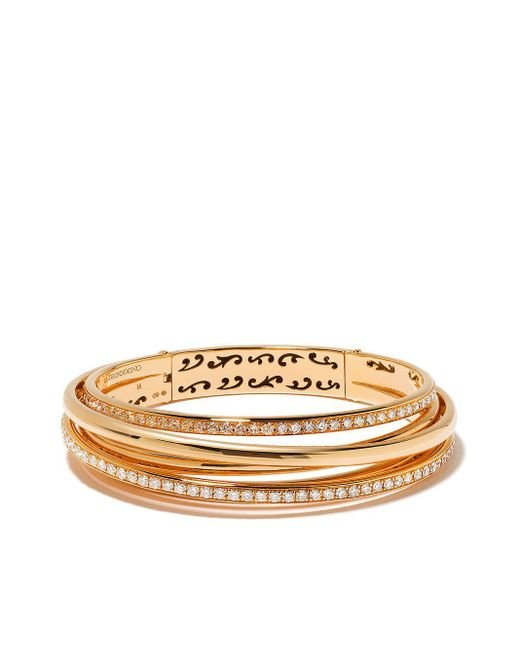 Bracelet multi-rangs en or rose 18ct à ornements en diamant De Grisogono en coloris Metallic