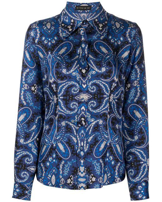 Etro ペイズリー シャツ Blue