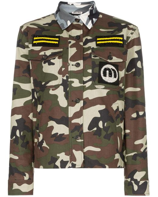 Miu Miu コントラストカラージャケット Multicolor
