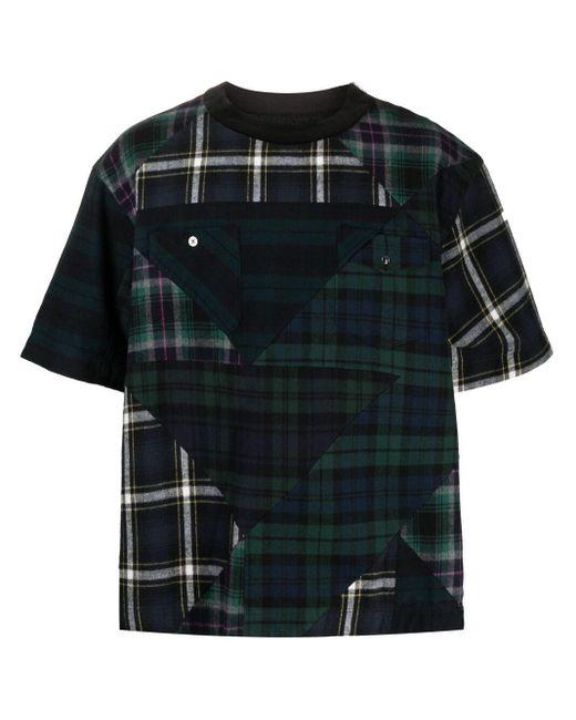 メンズ Sacai パネル Tシャツ Green