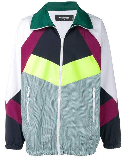 DSquared² Trainingsjack Met Colourblocking in het White voor heren