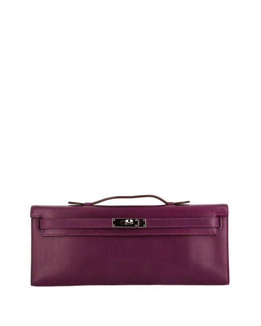 Hermès プレオウンド ケリーカット ハンドバッグ Purple