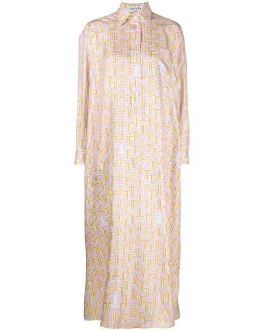 Lanvin シルク シャツドレス Multicolor