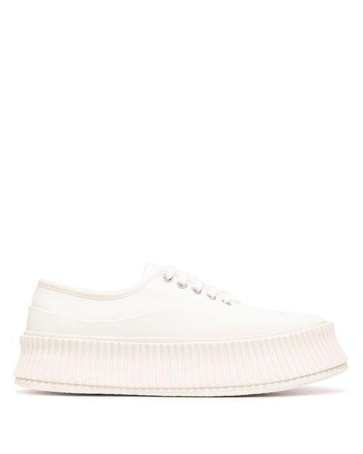 Jil Sander White Klassische Sneakers