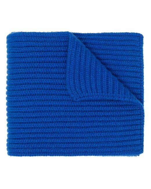Pringle of Scotland チャンキーニット カシミアスカーフ Blue