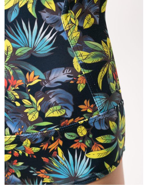 Printed Swimsuit Amir Slama, цвет: Black