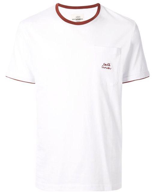 メンズ Kent & Curwen コントラスト ポロシャツ White