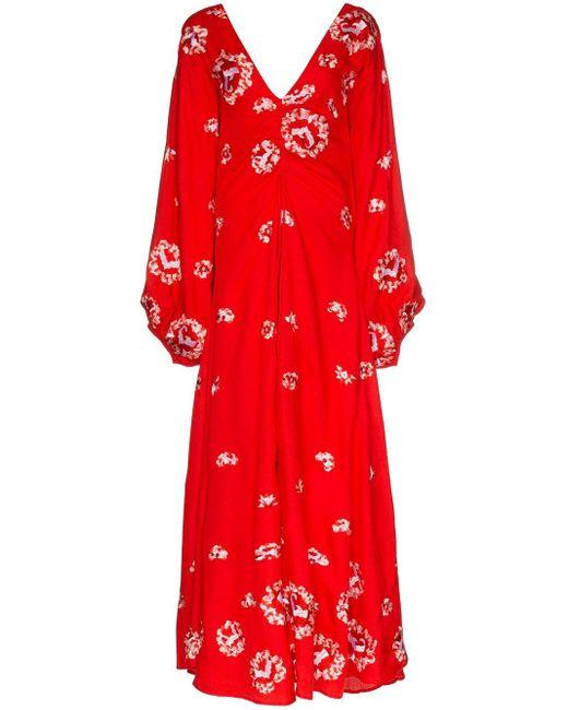 All Things Mochi Catalina フローラル ドレス Red