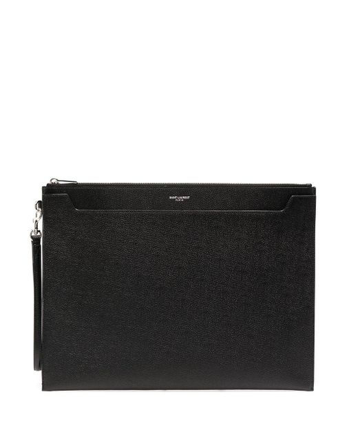 Клатч С Логотипом Saint Laurent для него, цвет: Black