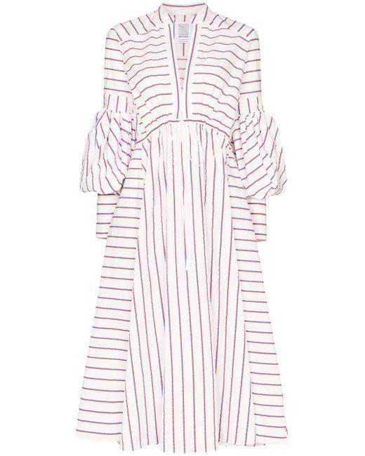 Rosie Assoulin ストライプ ドレス White