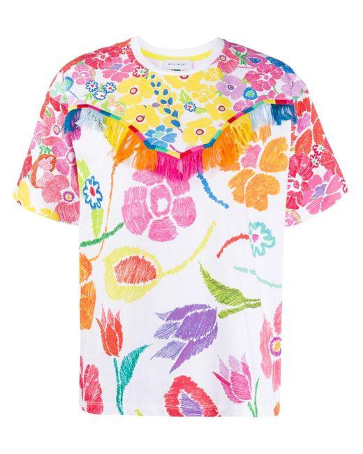 MIRA MIKATI フローラル Tシャツ White