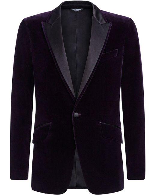 メンズ Dolce & Gabbana ベルベット ジャケット Black