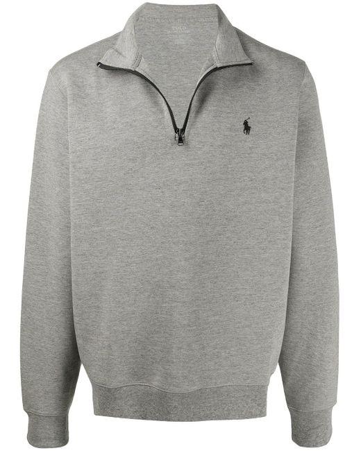 メンズ Polo Ralph Lauren ロゴ スウェットシャツ Gray