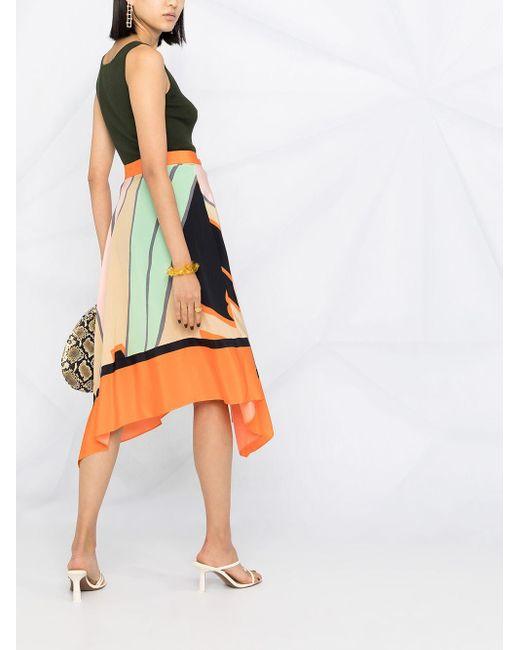 Diane von Furstenberg アシンメトリーヘム スカート Multicolor