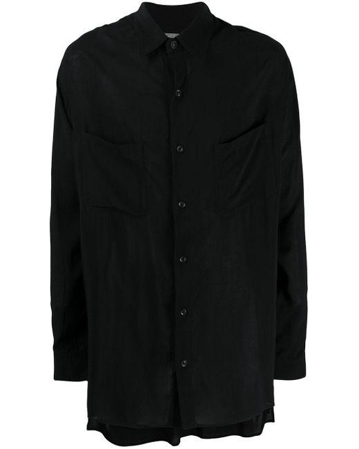 メンズ Yohji Yamamoto ロングスリーブシャツ Black