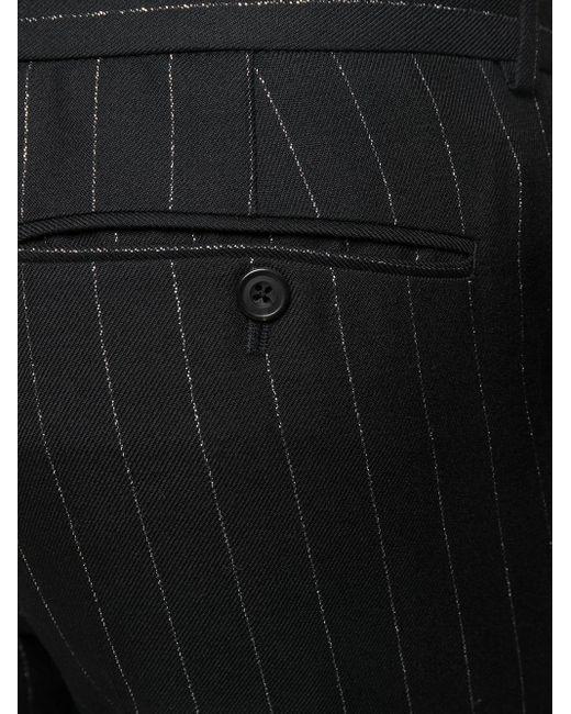 メンズ Alexander McQueen メタリック テーラードパンツ Black