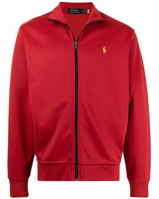 メンズ Polo Ralph Lauren ハイネック トラックジャケット Red