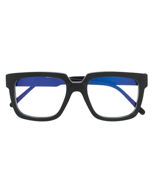 Gafas cuadradas de dos tonos Kuboraum de color Multicolor