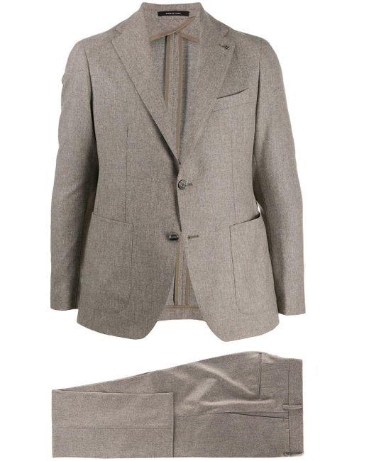 メンズ Tagliatore ツーピース スーツ Gray