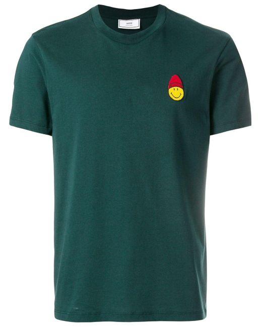 メンズ AMI スマイルパッチ クルーネックtシャツ Green