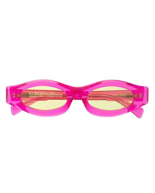 Kuboraum ラウンドフレーム サングラス Pink