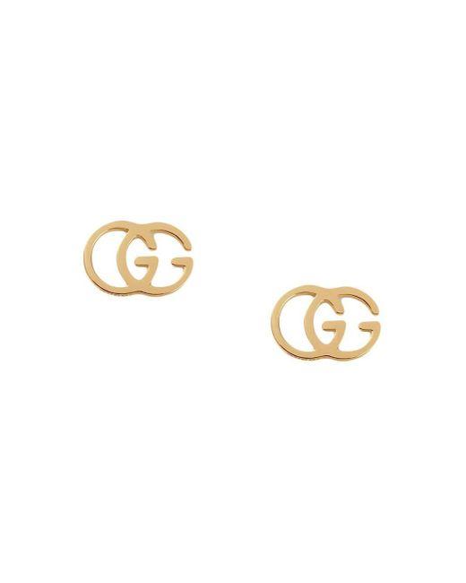 Gucci GGスタッズ ピアス 18kイエローゴールド Metallic