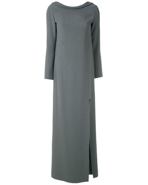 Длинное Платье С Разрезом Сбоку Gloria Coelho, цвет: Green