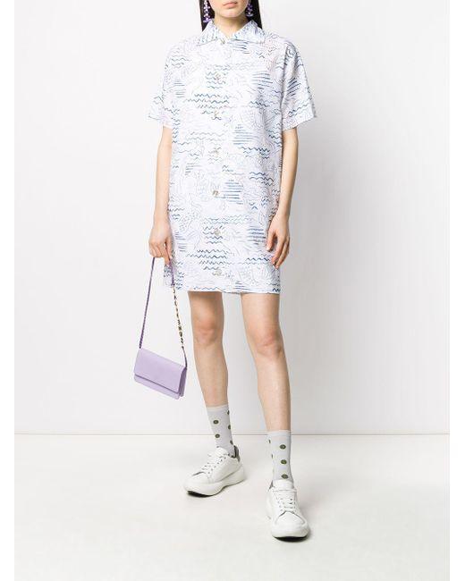KENZO マーメイド シャツドレス White