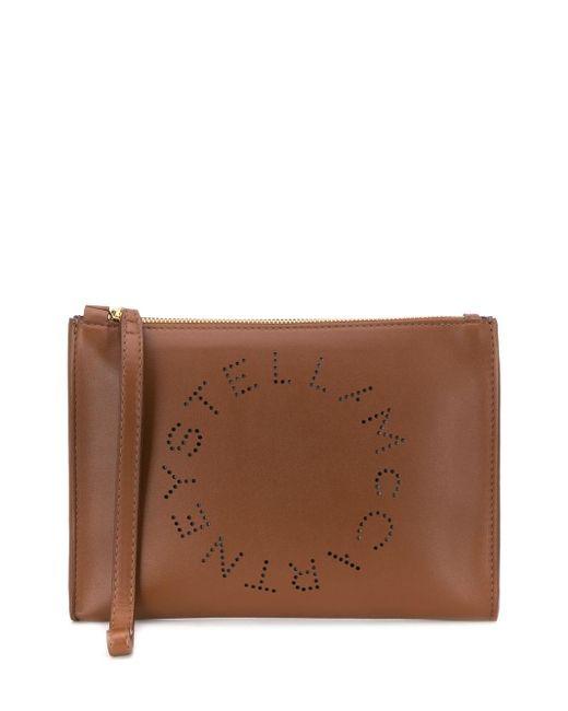 Stella McCartney ステラ ロゴ クラッチバッグ Brown