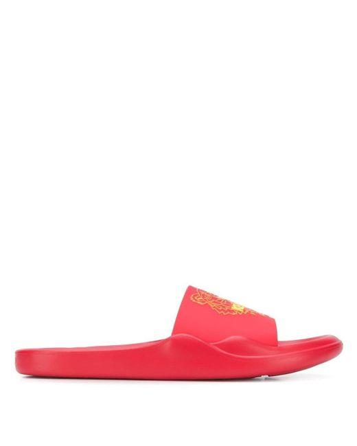 Claquettes Tiger KENZO pour homme en coloris Red