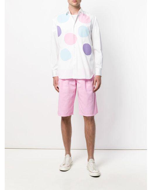 メンズ Comme des Garçons デッキショーツ Pink
