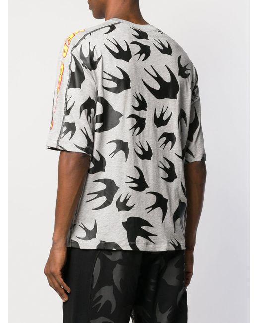 T-shirt imprimé McQ Alexander McQueen pour homme en coloris Gray