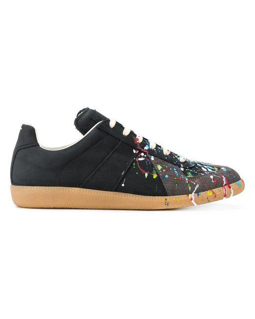 Black Paint Splatter Margiela Sneakers