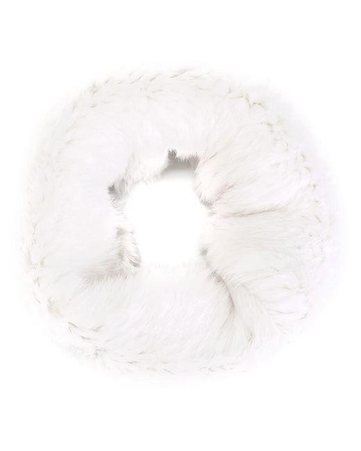 Yves Salomon | White Rabbit Fur Scarf | Lyst