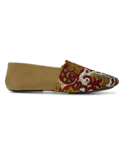 Newbark - Multicolor Jacks Flocked Slip-on Loafers - Lyst