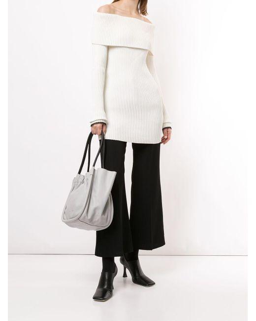 Джемпер В Рубчик С Открытыми Плечами Proenza Schouler, цвет: White